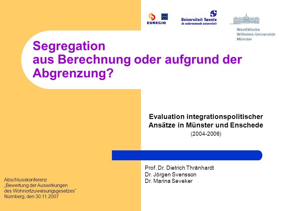 Segregation aus Berechnung oder aufgrund der Abgrenzung