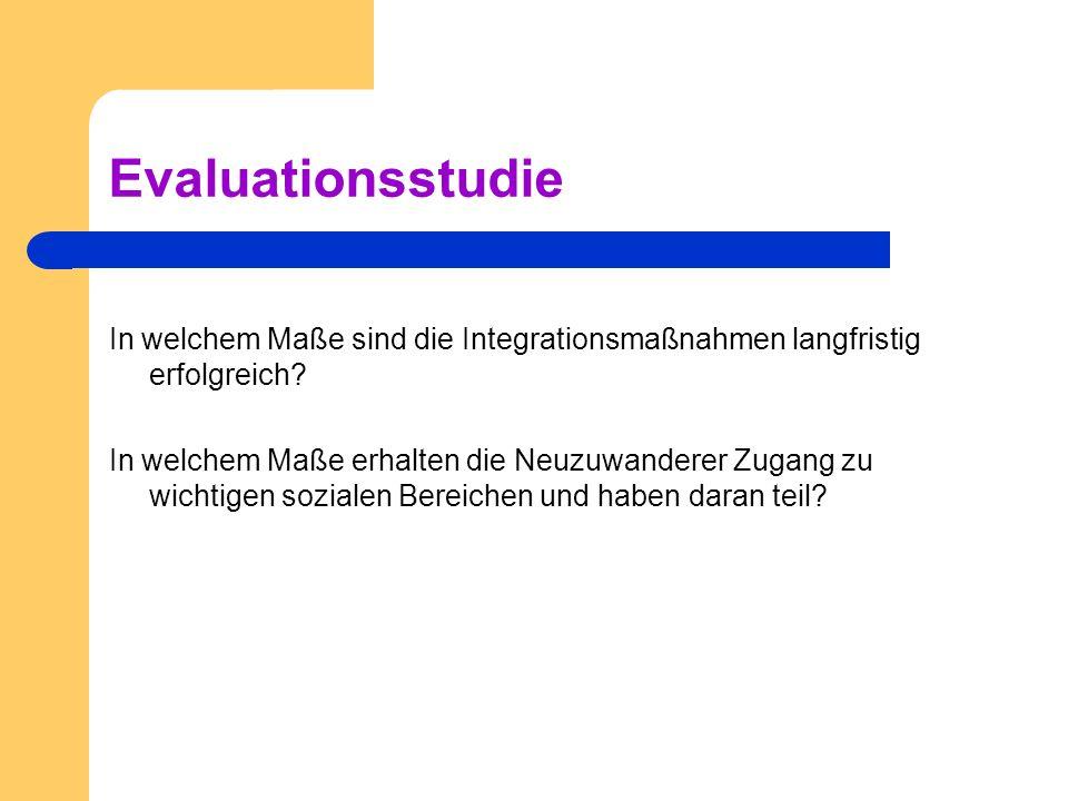 Evaluationsstudie In welchem Maße sind die Integrationsmaßnahmen langfristig erfolgreich