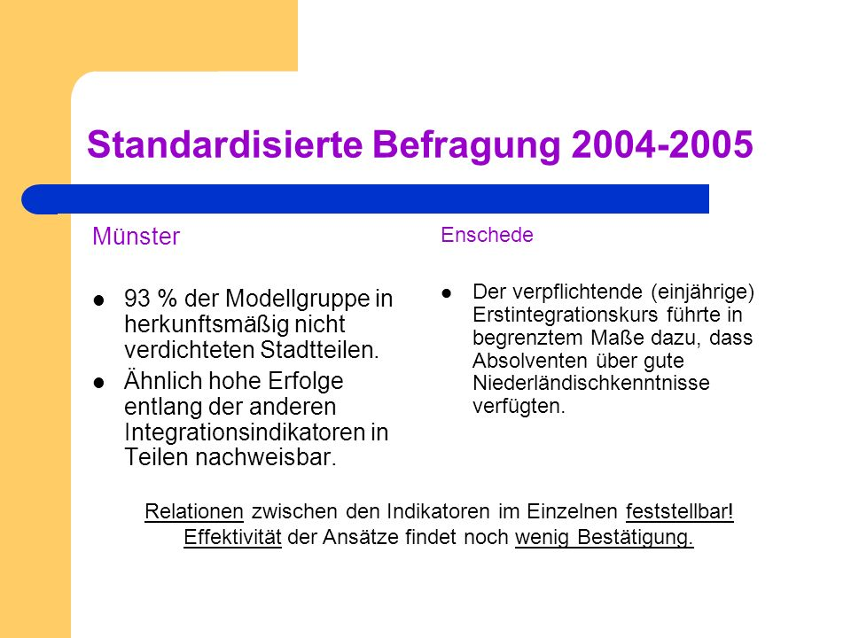 Standardisierte Befragung 2004-2005