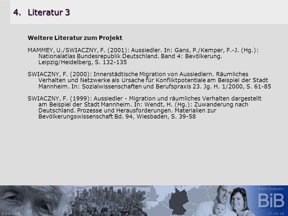 Literatur 3 Weitere Literatur zum Projekt