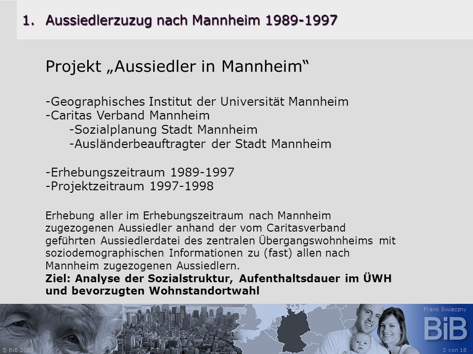 Aussiedlerzuzug nach Mannheim 1989-1997