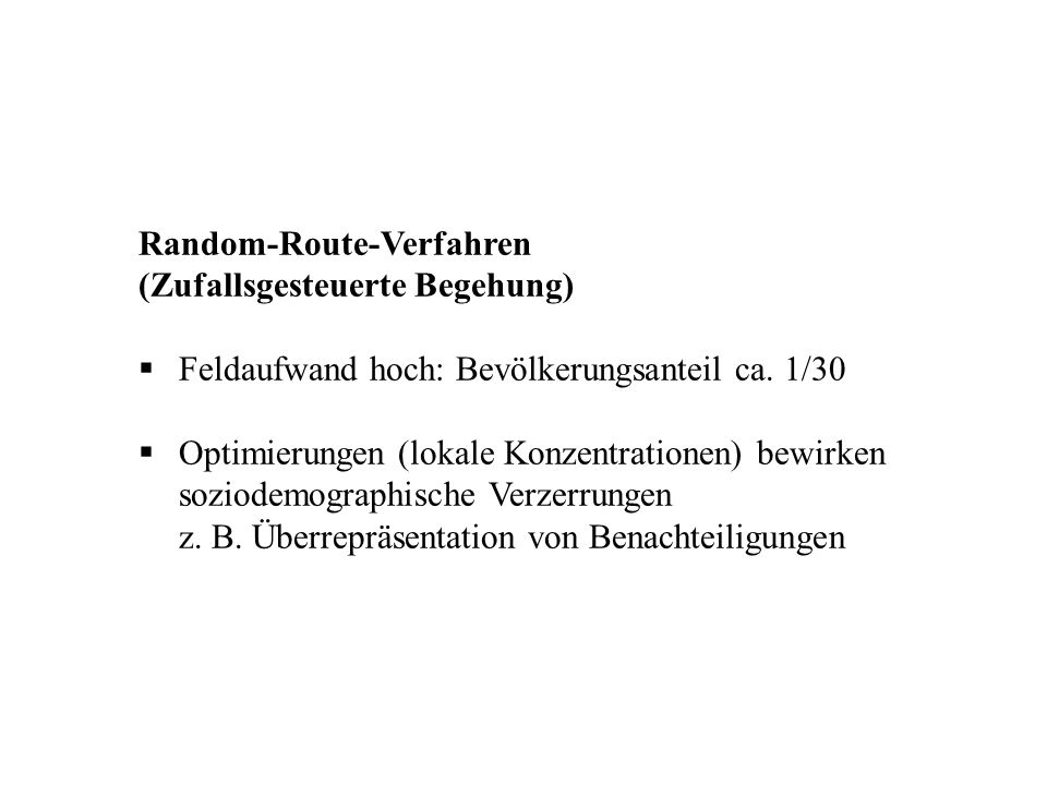 Random-Route-Verfahren