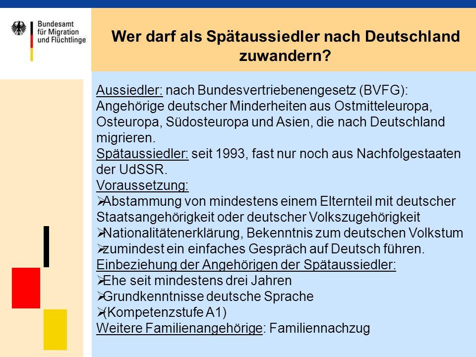 Wer darf als Spätaussiedler nach Deutschland zuwandern