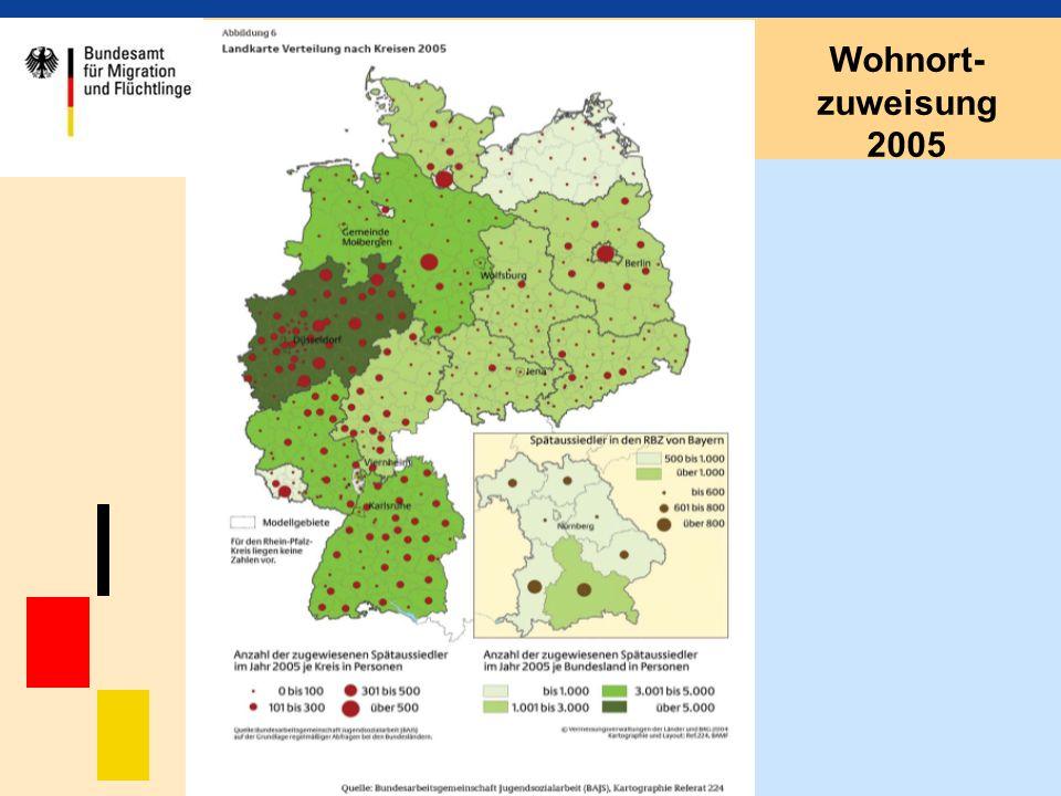 Wohnort-zuweisung 2005