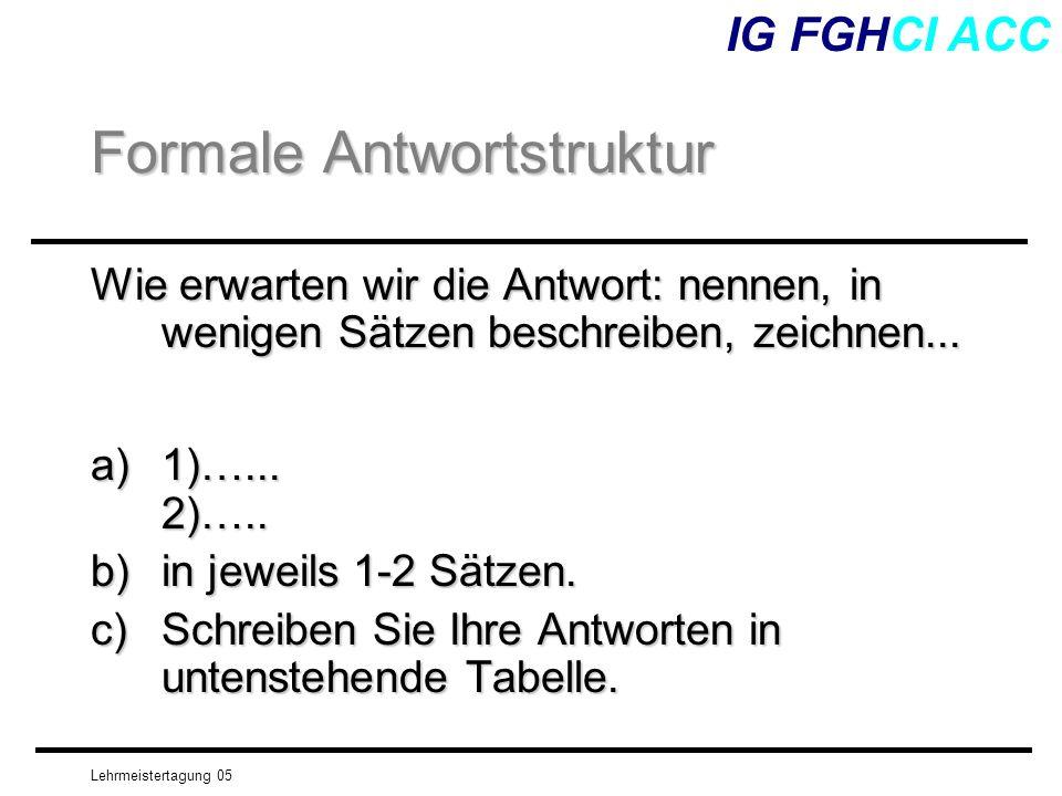 Formale Antwortstruktur