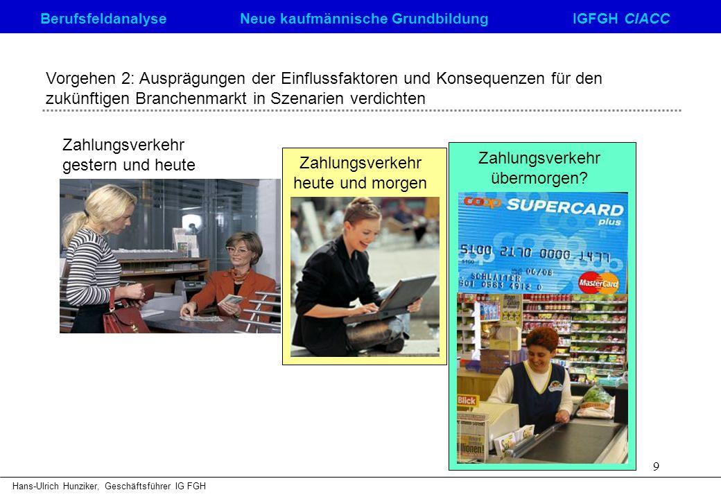 Zahlungsverkehr gestern und heute Zahlungsverkehr heute und morgen