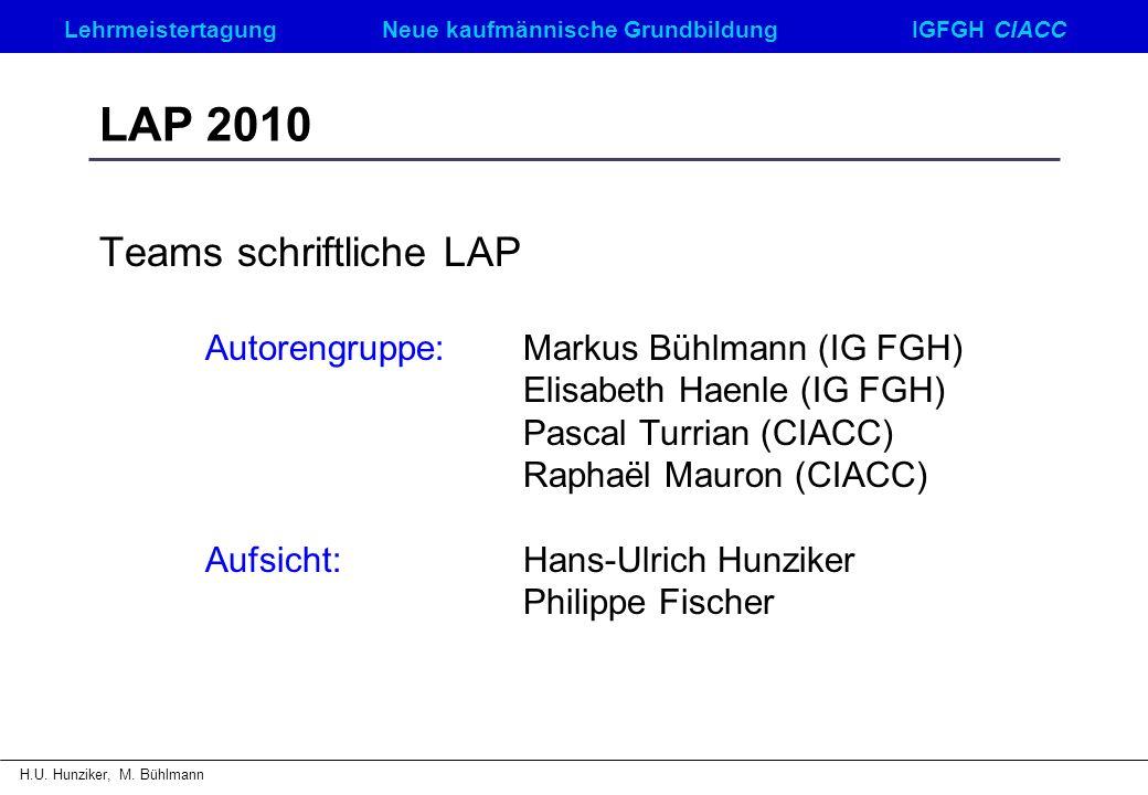 LAP 2010 Teams schriftliche LAP