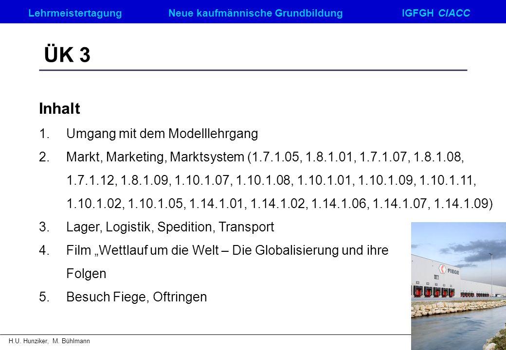 ÜK 3 Inhalt Umgang mit dem Modelllehrgang