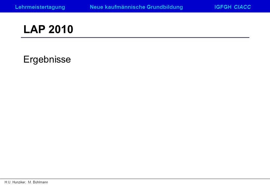 LAP 2010 Ergebnisse