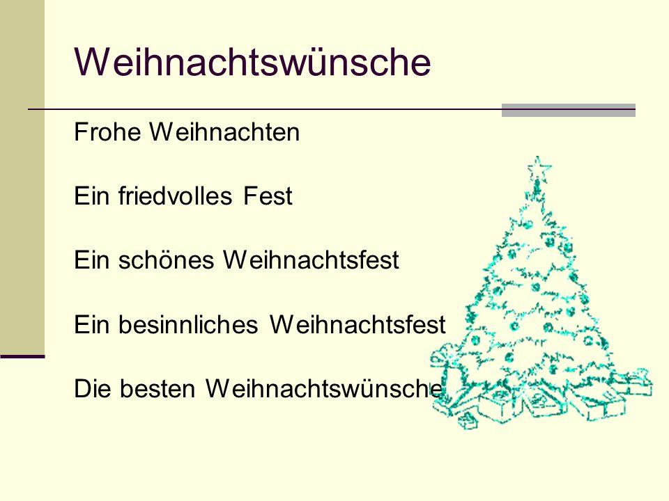 Weihnachtswünsche Frohe Weihnachten Ein friedvolles Fest