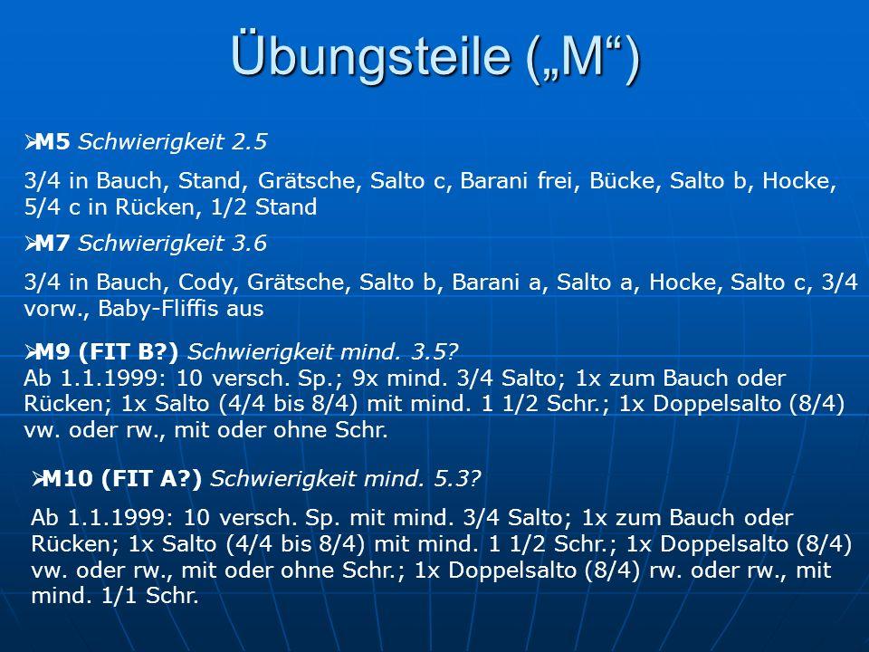 """Übungsteile (""""M ) M5 Schwierigkeit 2.5"""