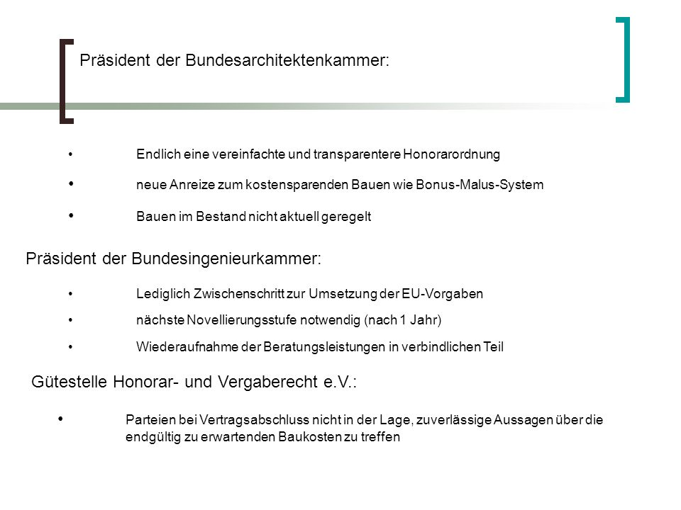 Präsident der Bundesarchitektenkammer: