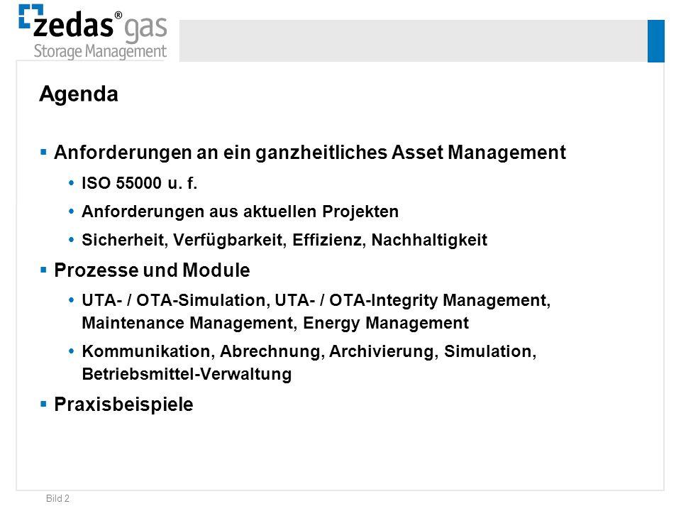 Agenda Anforderungen an ein ganzheitliches Asset Management