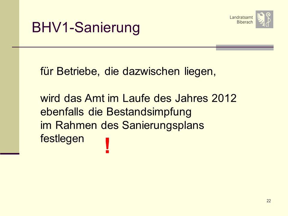 ! BHV1-Sanierung für Betriebe, die dazwischen liegen,