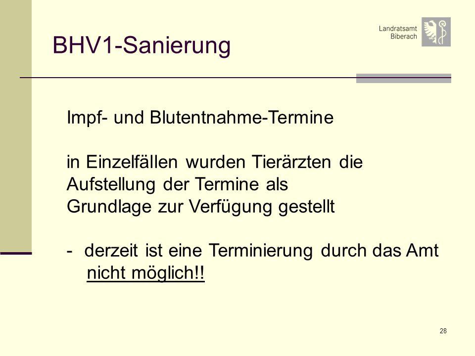 BHV1-Sanierung Impf- und Blutentnahme-Termine