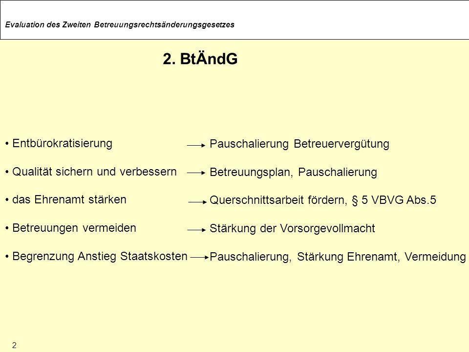 2. BtÄndG Entbürokratisierung Pauschalierung Betreuervergütung