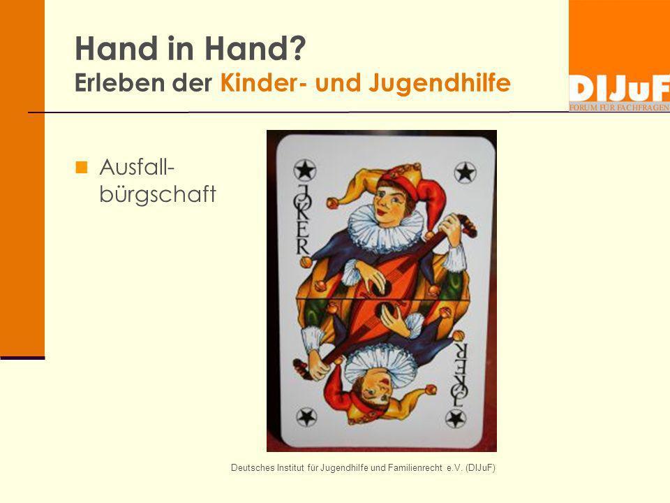 Hand in Hand Erleben der Kinder- und Jugendhilfe
