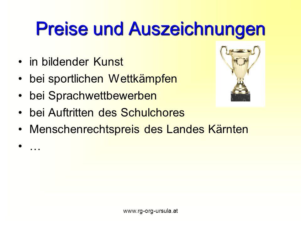 Preise und Auszeichnungen