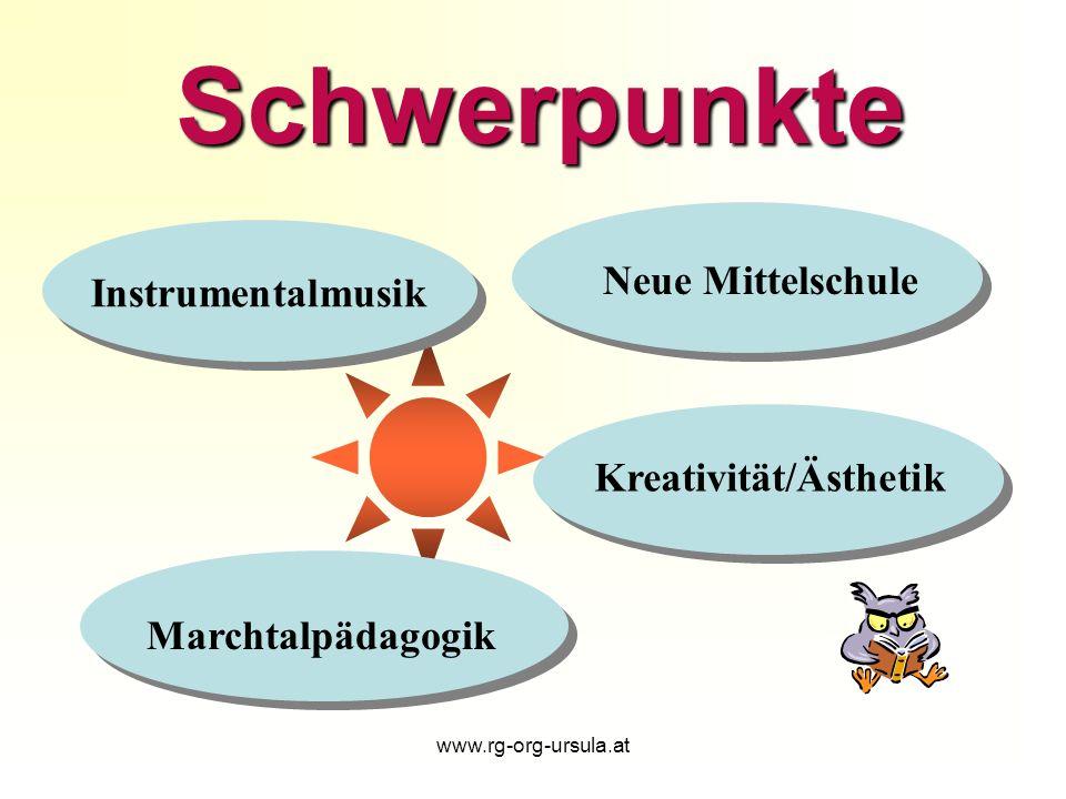 Schwerpunkte Neue Mittelschule Instrumentalmusik Kreativität/Ästhetik