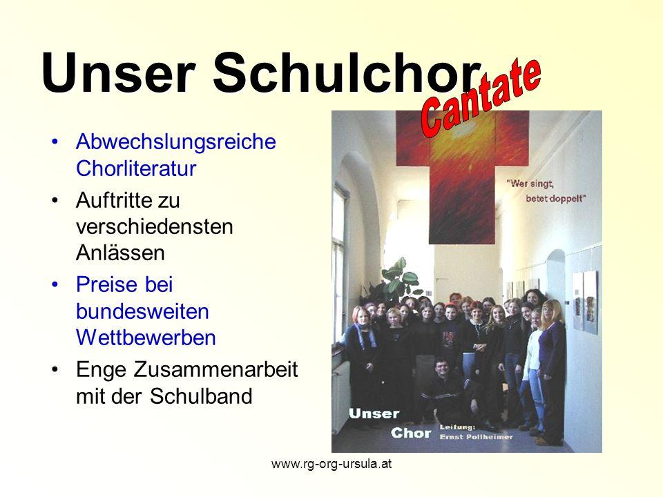 Unser Schulchor Abwechslungsreiche Chorliteratur