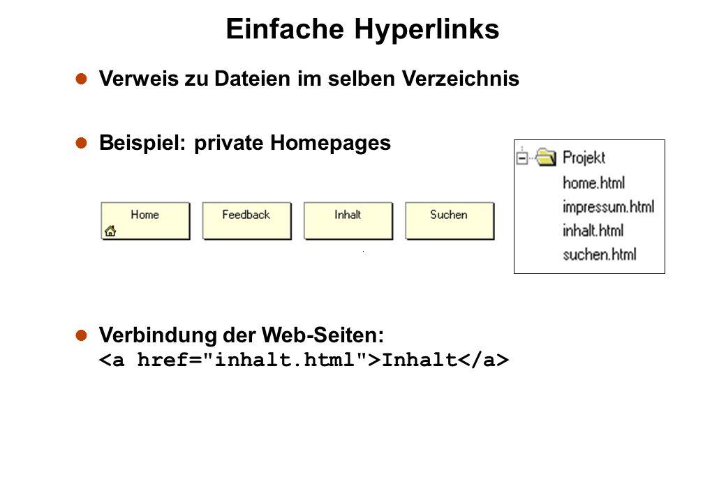 Einfache Hyperlinks Verweis zu Dateien im selben Verzeichnis