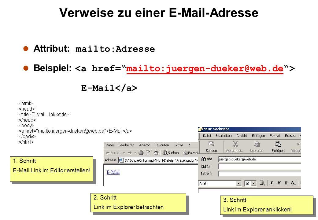 Verweise zu einer E-Mail-Adresse