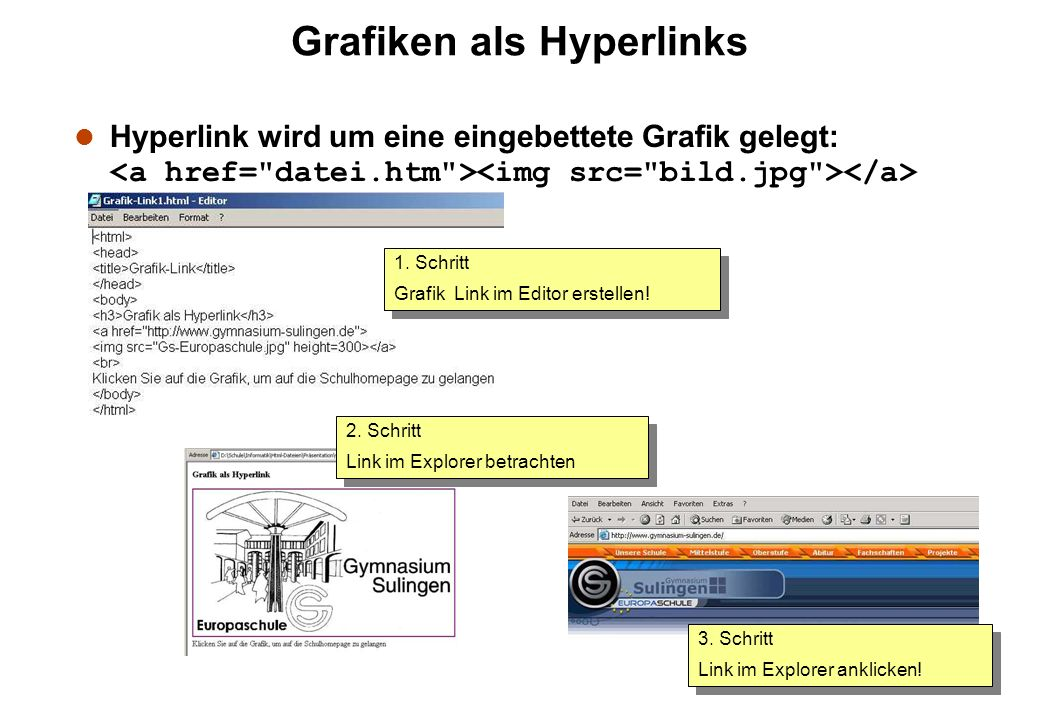 Grafiken als Hyperlinks