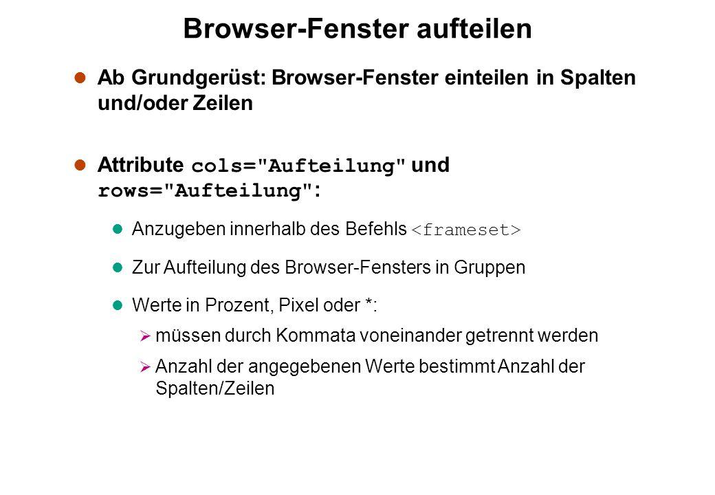 Browser-Fenster aufteilen