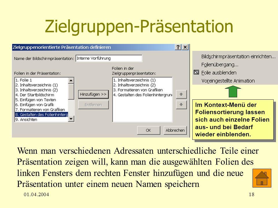 Zielgruppen-Präsentation
