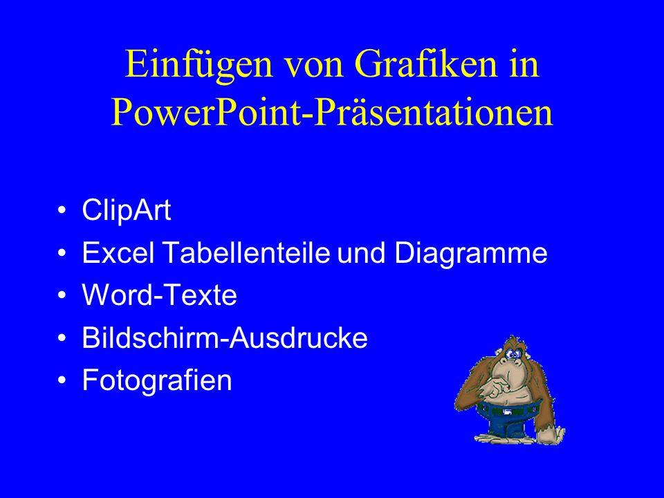 Einfügen von Grafiken in PowerPoint-Präsentationen