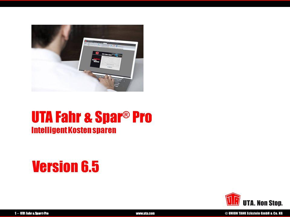 UTA Fahr & Spar® Pro Intelligent Kosten sparen