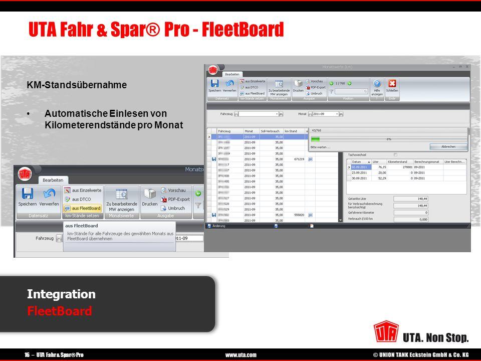 UTA Fahr & Spar® Pro - FleetBoard