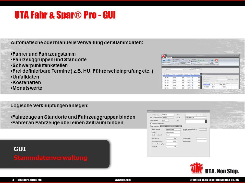 UTA Fahr & Spar® Pro - GUI