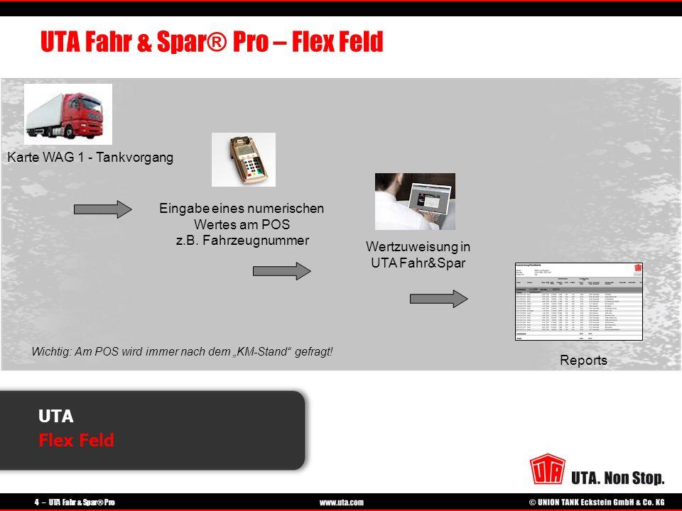 UTA Fahr & Spar® Pro – Flex Feld