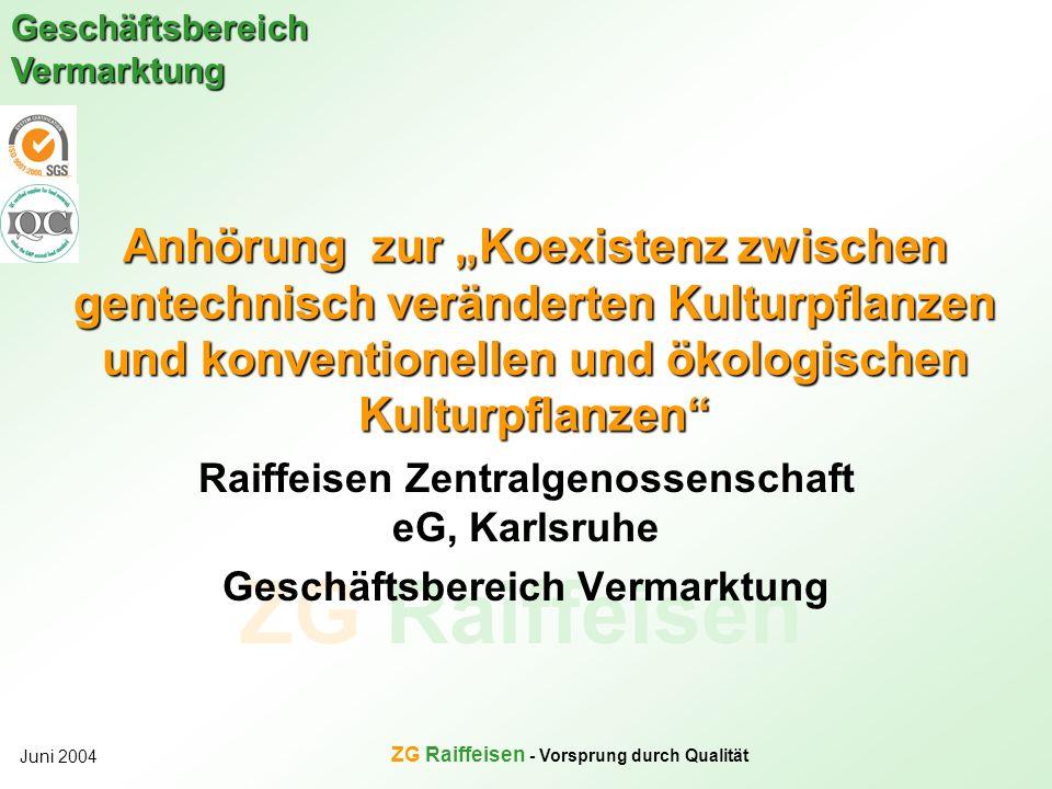 """Anhörung zur """"Koexistenz zwischen gentechnisch veränderten Kulturpflanzen und konventionellen und ökologischen Kulturpflanzen"""
