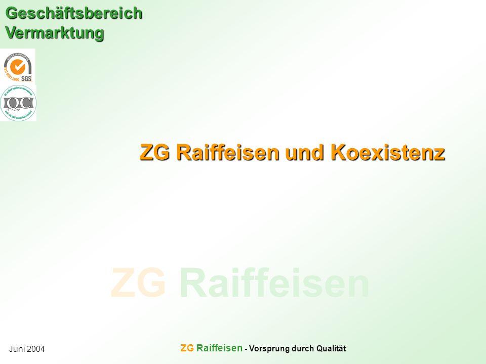 ZG Raiffeisen und Koexistenz