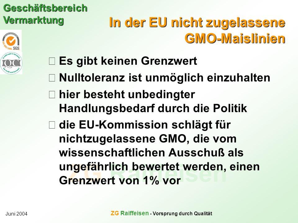 In der EU nicht zugelassene GMO-Maislinien