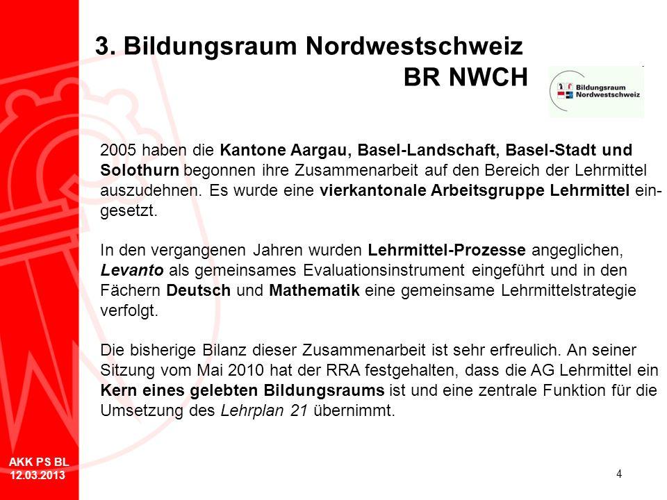 3. Bildungsraum Nordwestschweiz BR NWCH