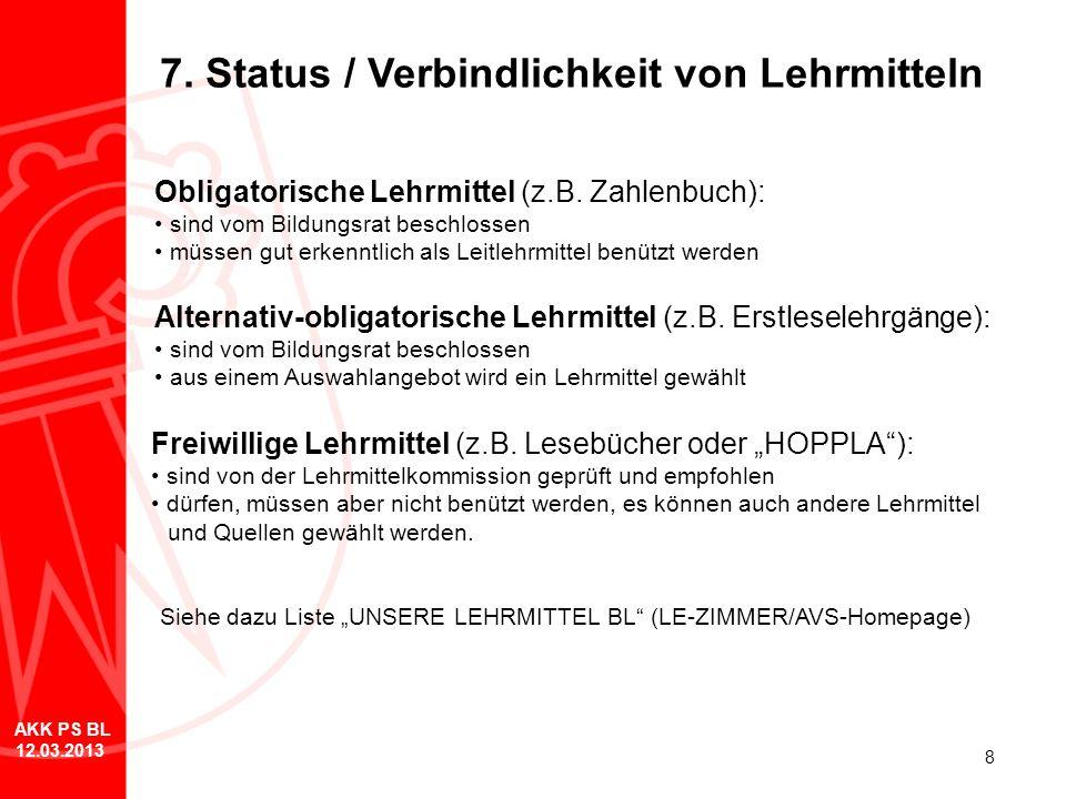 7. Status / Verbindlichkeit von Lehrmitteln