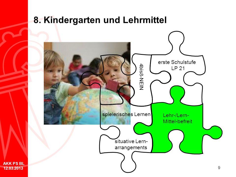 8. Kindergarten und Lehrmittel