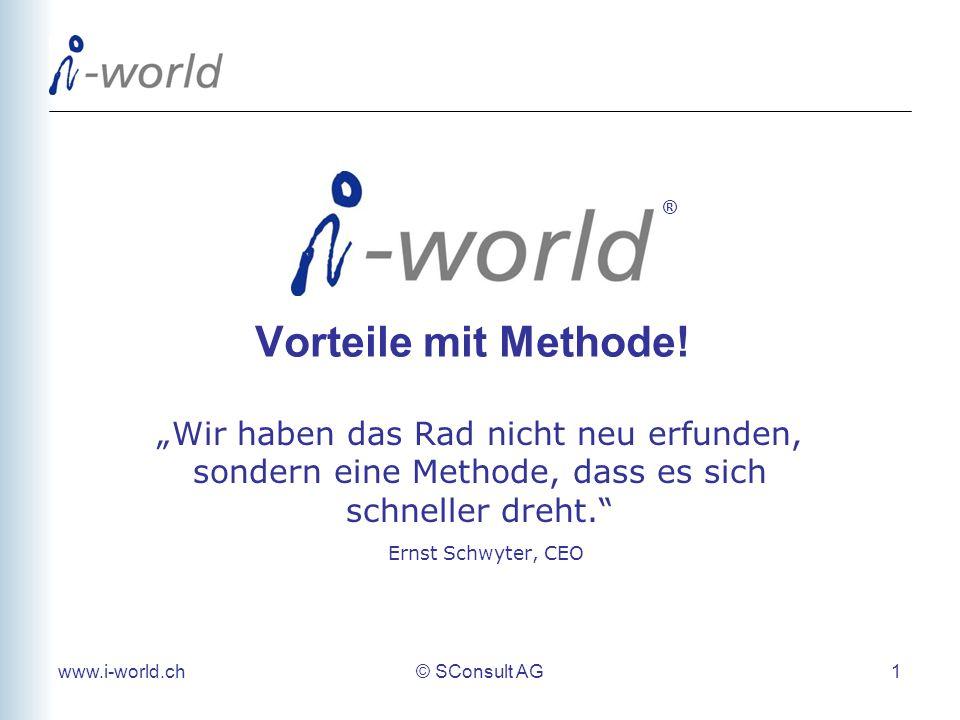 """® Vorteile mit Methode! """"Wir haben das Rad nicht neu erfunden, sondern eine Methode, dass es sich schneller dreht. Ernst Schwyter, CEO."""
