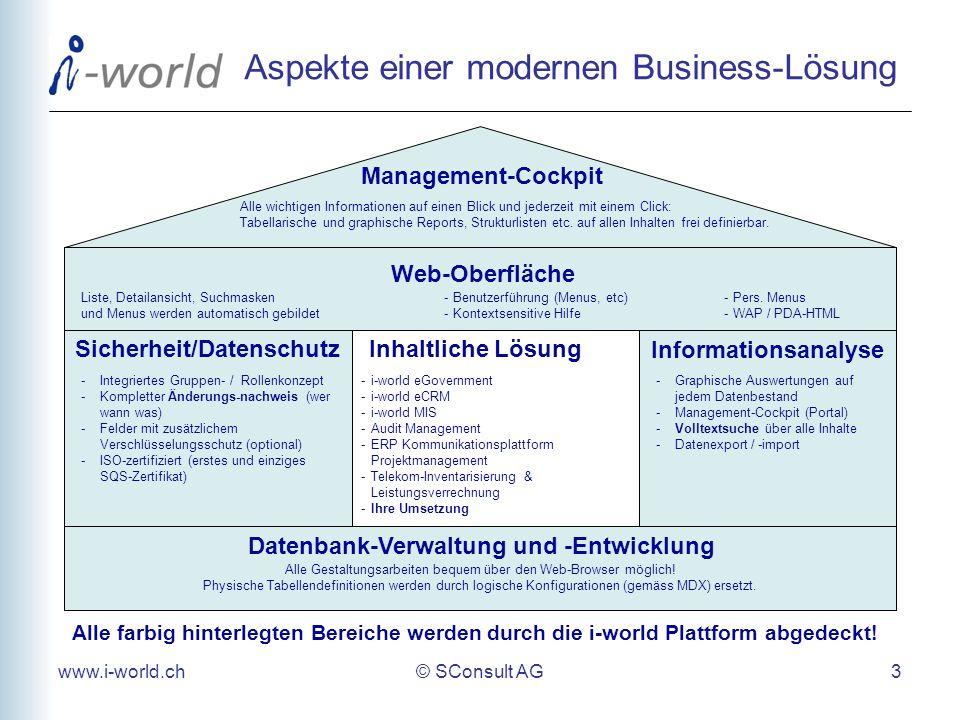 Aspekte einer modernen Business-Lösung