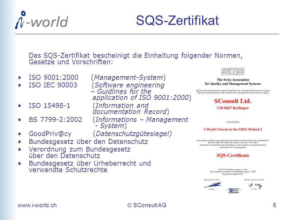 SQS-Zertifikat Das SQS-Zertifikat bescheinigt die Einhaltung folgender Normen, Gesetze und Vorschriften: