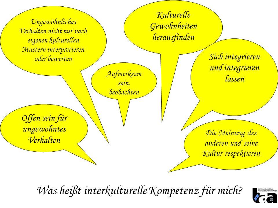 Was heißt interkulturelle Kompetenz für mich