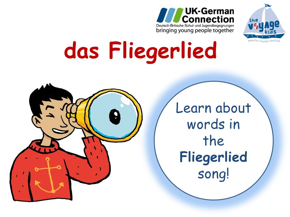 Learn about words in the Fliegerlied song!