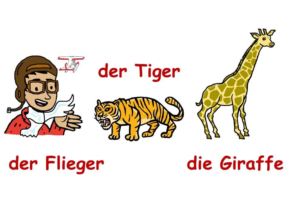 der Tiger der Flieger die Giraffe