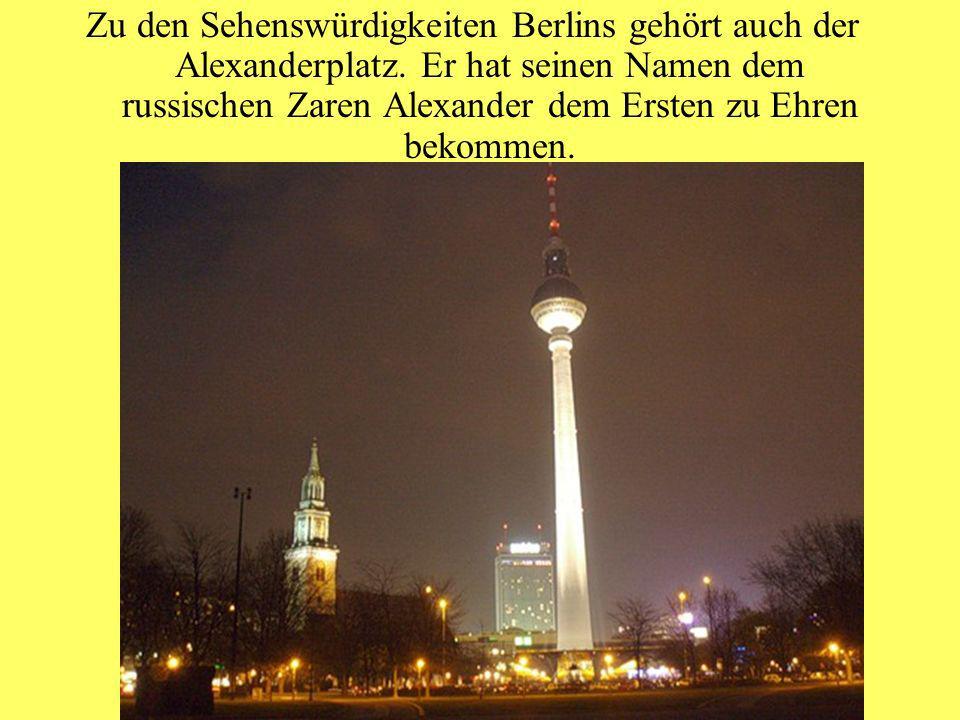 Zu den Sehenswürdigkeiten Berlins gehört auch der Alexanderplatz