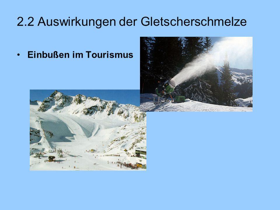 2.2 Auswirkungen der Gletscherschmelze