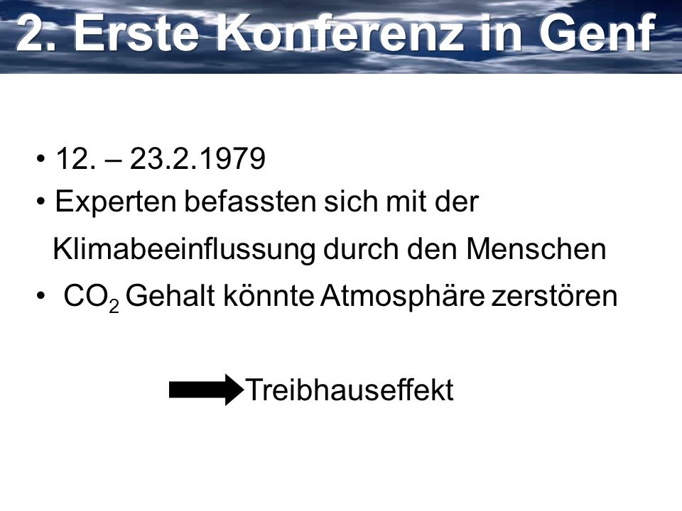 2. Erste Konferenz in Genf