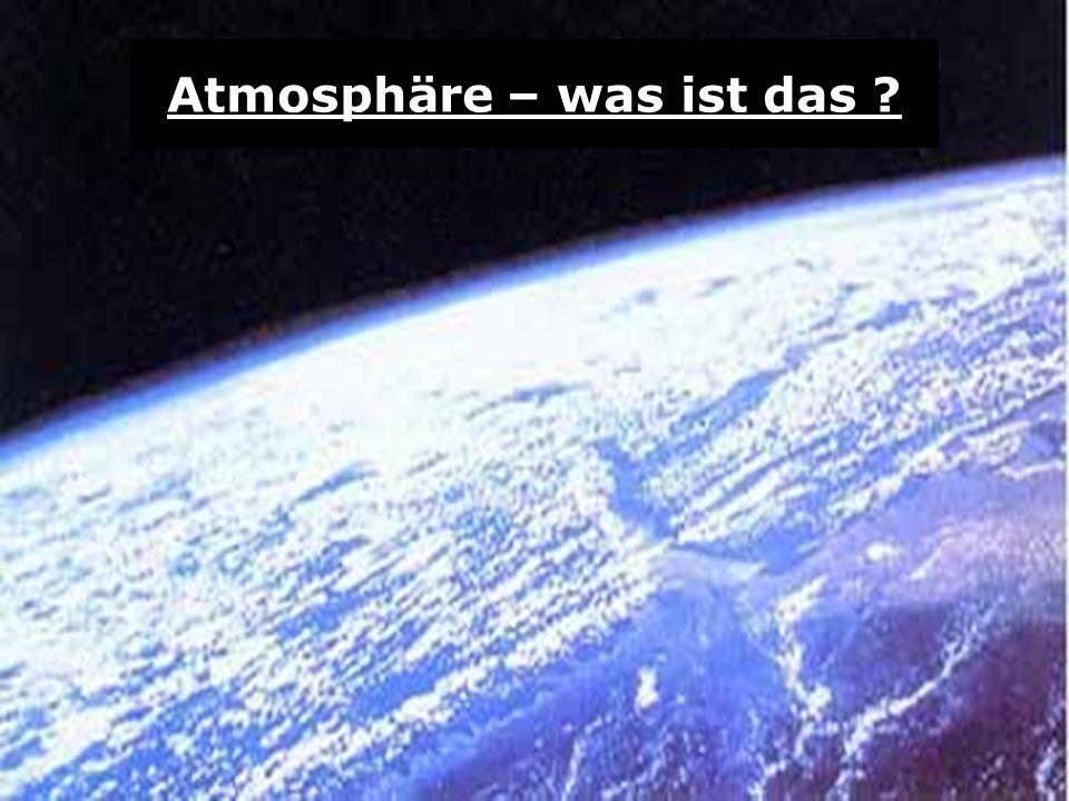 Atmosphäre – was ist das